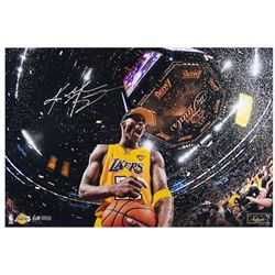"Kobe Bryant Signed LE Lakers ""5x Champ"" 16"" x 24"" Photo (Panini COA)"