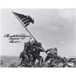 "Hershel Williams Signed ""Iwo Jima"" 16x20 Photo Inscribed ""Medal of Honor"" (PSA COA)"