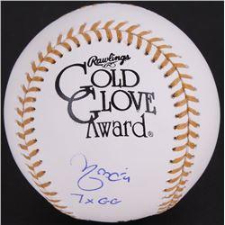 "Yadier Molina Signed Gold Glove Award Baseball Inscribed ""7X GG"" (JSA COA)"