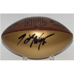 Hank Williams Jr. Signed Gold Panel Wilson NFL Football (JSA COA)