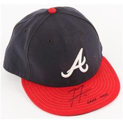 "Freddie Freeman Signed Game-Used Braves Hat Inscribed ""Game Used"" (MLB Hologram)"
