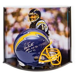 """Dan Fouts Signed LE Chargers Full-Size Authentic Pro-Line Helmet Inscribed """"NFL MVP '82""""  """"HOF '93"""""""