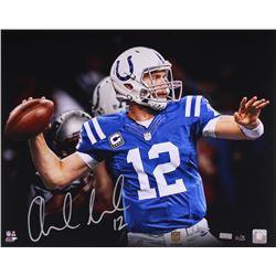 "Andrew Luck Signed LE Colts ""Pocket"" 16x20 Photo (Panini COA)"