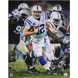 """Andrew Luck Signed LE Colts """"Downpour"""" 16x20 Photo (Panini COA)"""