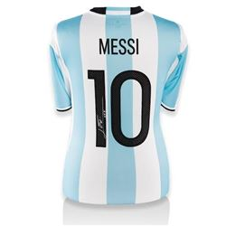 "Lionel ""Leo"" Messi Signed Argentina Authentic Soccer Jersey (Messi COA)"
