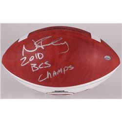 Nick Fairley Signed NCAA Football Inscribed  2010 BCS Champs  (Radtke Hologram)
