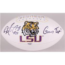 "Morris Claiborne Signed LSU Tigers Logo Football Inscribed ""Geaux Tigers!"" (Radtke COA)"
