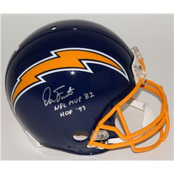 Dan Fouts Signed Chargers Full-Size Authentic Pro-Line Helmet Inscribed  NFL MVP '82    HOF '93   Li