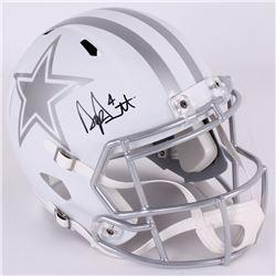 Dak Prescott Signed Cowboys Full-Size Matte White Speed Helmet (JSA COA  Radtke COA)