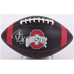 Robert Smith Signed Ohio State Buckeyes Black Leather Football (PSA COA)