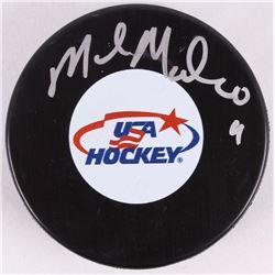 Mike Modano Signed USA Hockey Puck (PSA COA)