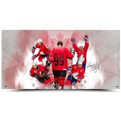 "Wayne Gretzky Signed Team Canada ""Homeland"" 18x36 Photo (UDA COA)"
