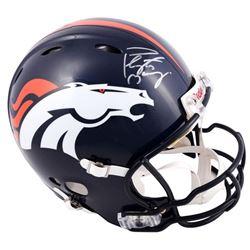 Peyton Manning Signed Broncos Full-Size Authentic Pro-Line Speed Helmet (Fanatics Hologram)