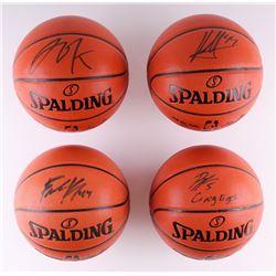 Lot of (4) Signed NBA Basketballs Including Jahlil Okafor, Frank Kaminsky, Nikola Mirotic (Schwartz
