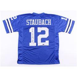 "Roger Staubach Signed Cowboys Jersey Inscribed ""HOF '85"" (Radtke COA)"