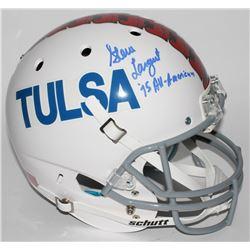 "Steve Largent Signed Tulsa Golden Hurricanes Full-Size Helmet Inscribed ""'75 All-American"" (JSA COA)"