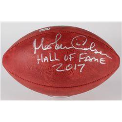 """Morten Andersen Signed """"The Duke"""" Official NFL Game Ball Inscribed """"Hall of Fame 2017"""" (Radtke Holog"""