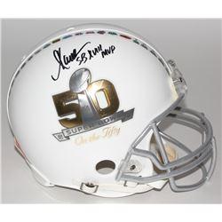 "Marcus Allen Signed Super Bowl 50 Full-Size Authentic Pro-Line Helmet Inscribed ""SB XVIII MVP"" (Stei"