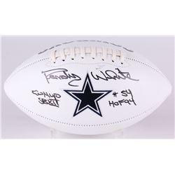 "Randy White Signed Cowboys Logo Football Inscribed ""Co MVP SB XII""  ""HOF 94"" (JSA COA)"