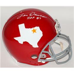 "Len Dawson Signed Dallas Texans Throwback Full-Size Authentic Pro-Line Helmet Inscribed ""HOF 87"" (JS"