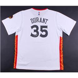 Kevin Durant Signed Warriors Chinese New Year Adidas Swingman Jersey (Panini COA)