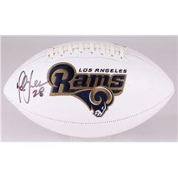 Marshall Faulk Signed Rams Logo Football (JSA COA)