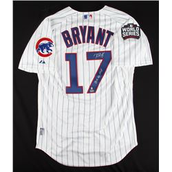 """Kris Bryant Signed Cubs Majestic Authentic Jersey Inscribed """"2016 NL MVP"""" (MLB  Fanatics Hologram)"""