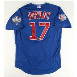 """Kris Bryant Signed Cubs Majestic Authentic 2016 World Series Jersey Inscribed """"2016 WS Champs"""" (MLB"""