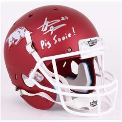 "Steve Atwater Signed Arkansas Razorbacks Full-Size Helmet Inscribed ""Pig Sooie!"" (JSA COA)"