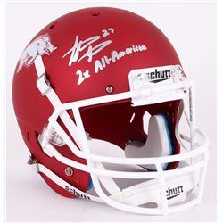 "Steve Atwater Signed Arkansas Razorbacks Full-Size Helmet Inscribed ""2x All-American"" (JSA COA)"