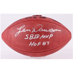 "Len Dawson Signed Official NFL Game Ball Inscribed ""SB IV MVP""  ""HOF 87"" (JSA COA)"