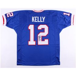 "Jim Kelly Signed Bills Jersey Inscribed ""HOF 02"" (JSA COA)"