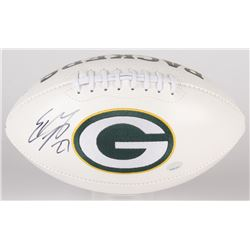 Eddie Lacy Signed Packers Logo Football (Radtke COA  Eddie Lacy Hologram)