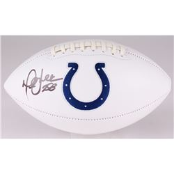 Marshall Faulk Signed Colts Logo Football (JSA COA)