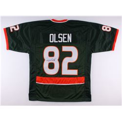 Greg Olsen Signed Miami Hurricanes Jersey (JSA COA)
