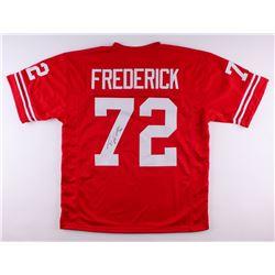Travis Frederick Signed Wisconsin Jersey (JSA COA)