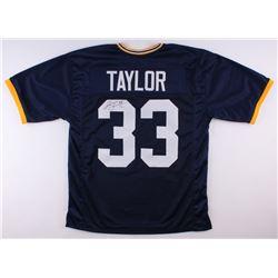 Jason Taylor Signed Akron Zips Jersey (JSA COA)