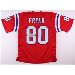 "Irving Fryar Signed Patriots Jersey Inscribed ""5x Pro Bowl"" (JSA COA)"