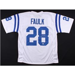 Marshall Faulk Signed Colts Jersey (JSA COA)