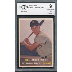 1957 Topps #24 Bill Mazeroski RC (BCCG 9)