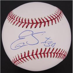 Ervin Santana Signed OML Baseball  (MLB Hologram)