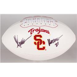 "Marcus Allen Signed USC Trojans Logo Football Inscribed ""Heisman 81"" (JSA COA)"