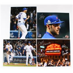 Lot of (4) Signed Cubs 8x10 Photos with Hector Rondon, Matt Szczur, Justin Grimm (Schwartz COA)