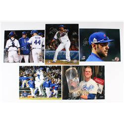 Lot of (5) Signed Cubs 8x10 Photos with Pedro Strop, Matt Szczur, Chris Bosio (Schwartz COA)