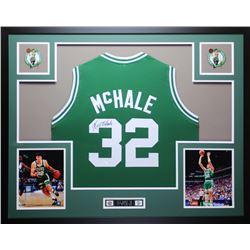 "Kevin McHale Signed Celtics 35"" x 43"" Custom Framed Jersey (JSA COA)"