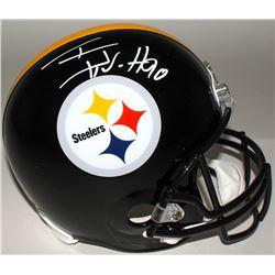 T. J. Watt Signed Steelers Full-Size Helmet (Watt Hologram)