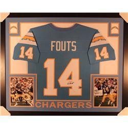 "Dan Fouts Signed Chargers 35"" x 43"" Custom Framed Jersey (JSA COA)"