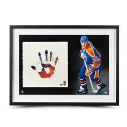 Wayne Gretzky Signed Oilers 20x28 Custom Framed TEGATA Lithograph Display (UDA COA)