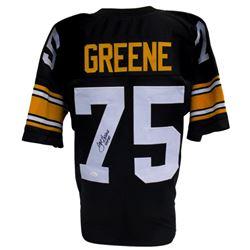 """Joe Greene Signed Steelers Pro-Style Jersey Inscribed """"HOF 87"""" (JSA COA)"""