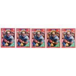 Lot of (5) 1989 Pro Set #490 Troy Aikman RC